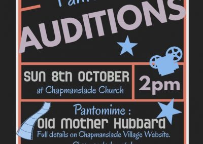 panto auditions poster